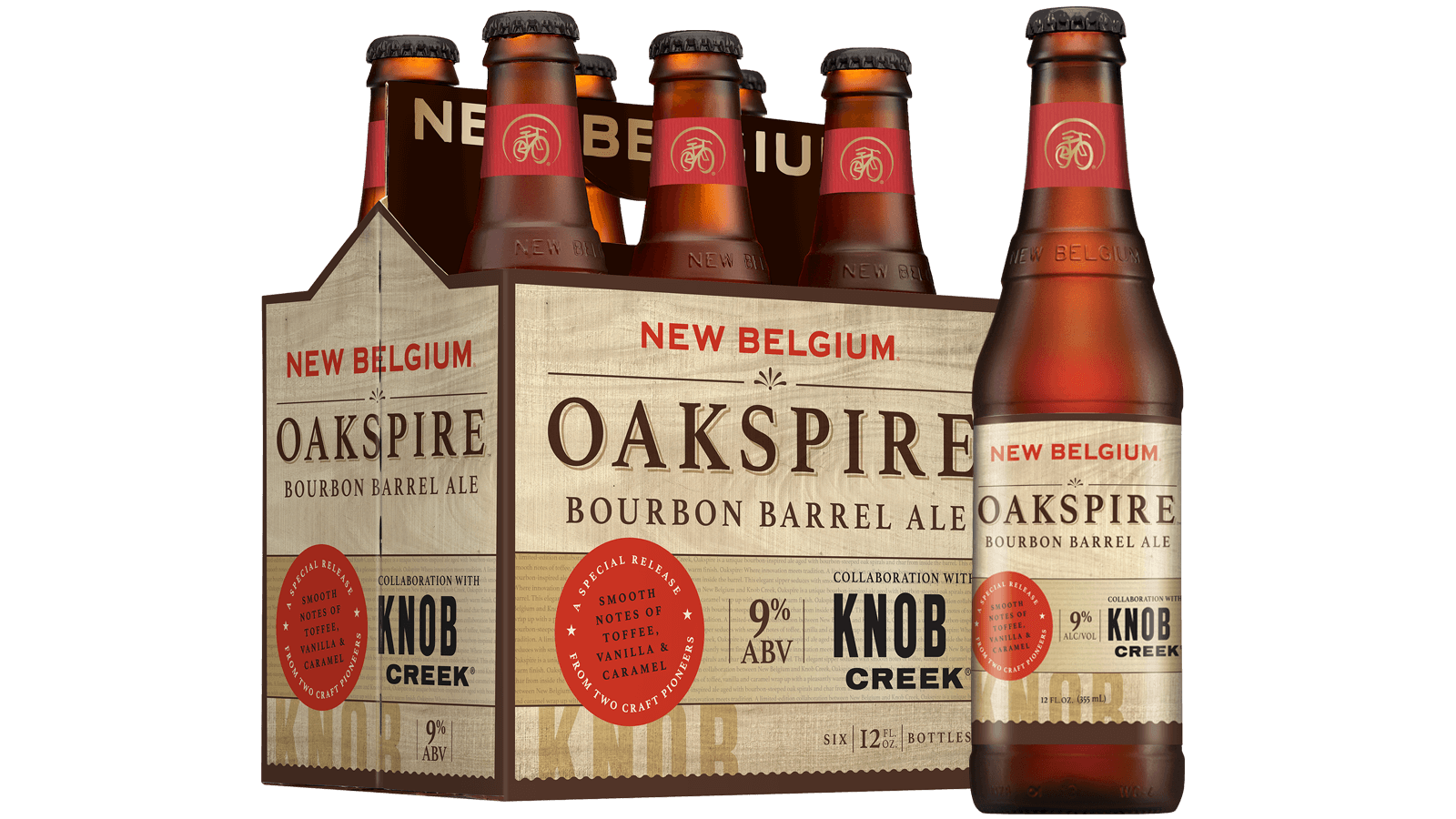 oakspire bourbon barrel ale new belgium brewing